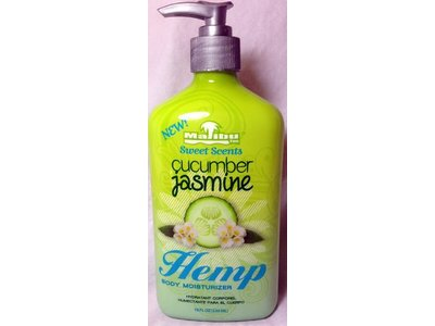 Malibu Tans Sweet Scents Cucumber Jasmine Hemp Body Moisturizer, 18 oz