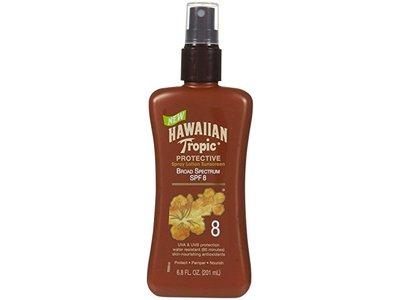 Hawaiian Tropic Protective Spray Lotion Sunscreen, SPF 8, 6.8 fl oz/201 mL