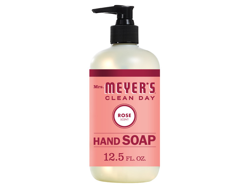 Mrs. Meyer's Clean Day Liquid Hand Soap, Rose Scent, 12.5 Ounce Bottle