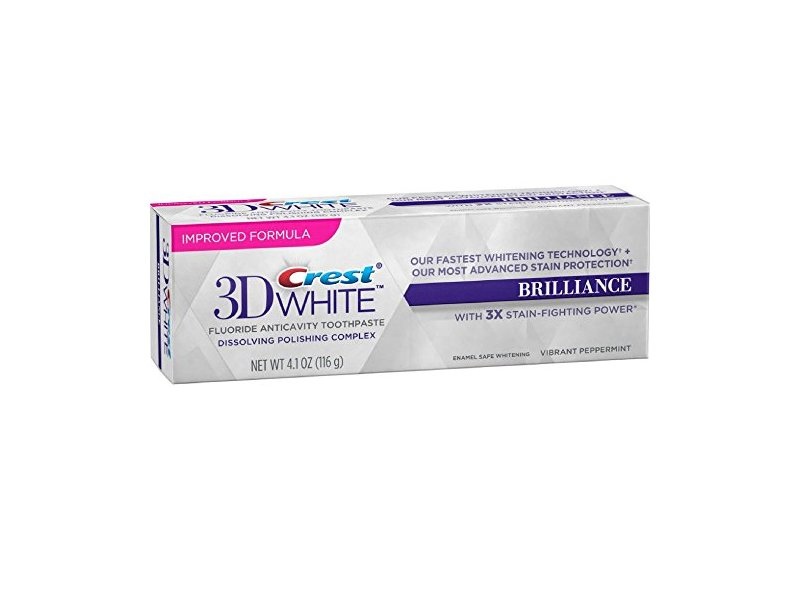 Crest 3D White Brilliance Toothpaste, Vibrant Peppermint 4.1 oz