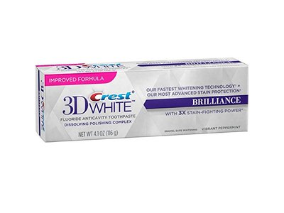 Crest 3D White Brilliance Toothpaste, Vibrant Peppermint 4.1 oz