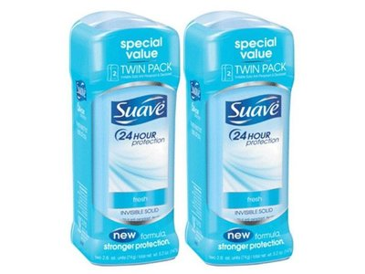 Suave 24 Hour Protection Invisible Solid Deodorant, Fresh, 5.2 oz (Pack of 4)