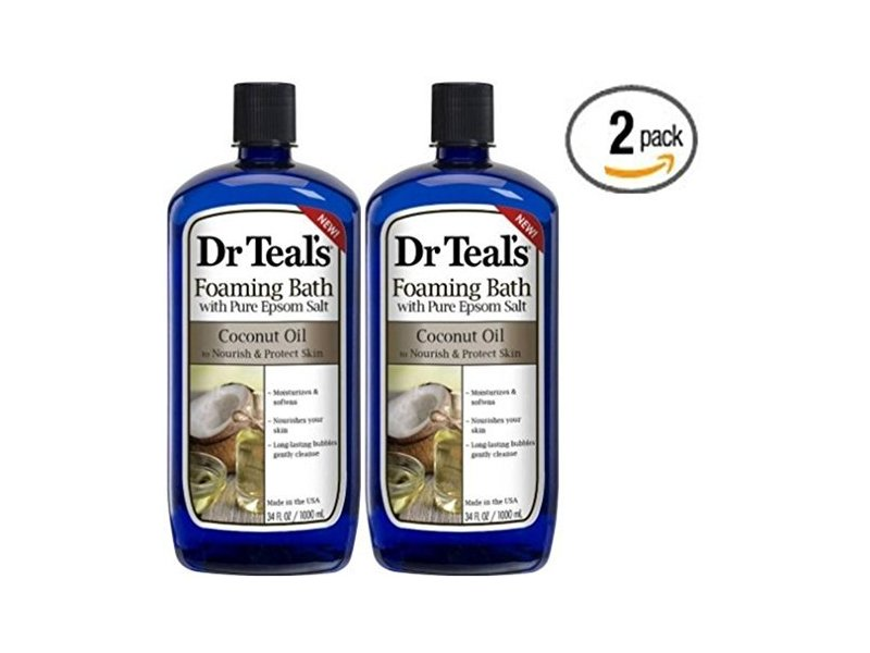 Dr Teal's Foaming Bath with Pure Epsom Salt, Coconut Oil, 34 fl oz