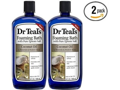 Dr Teal's Foaming Bath with Pure Epsom Salt, Coconut Oil, 34 fl oz - Image 1