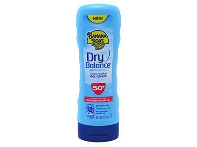 Banana Boat Dry Balance Broad Spectrum Sunscreen Lotion, SPF 50+ , 6 Ounce