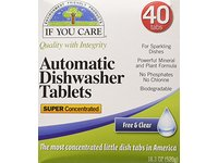 If You Care Automatic Dishwasher Tablets, Free & Clear, 40 Count - Image 2
