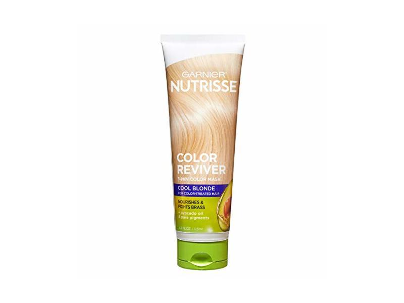 Garnier Nutrisse Color Reviver Color Hair Mask, Cool Blonde, 4.2 fl oz/125 mL