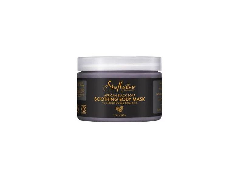 Shea Moisture African Black Soap Soothing Body Mask, 12 oz