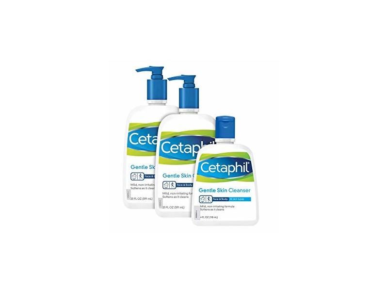 Cetaphil Gentle Skin Cleanser, 4 oz (3 Pack)