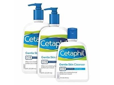 Cetaphil Gentle Skin Cleanser, 4 oz (3 Pack) - Image 1
