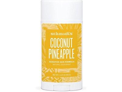Schmidt's Natural Deodorant, Coconut Pineapple, 3.25 Oz