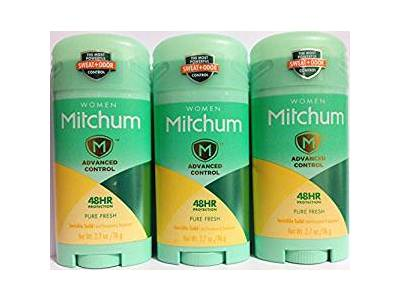 Mitchum For Women Advanced Control Anti-Perspirant Deodorant Invisible Solid, Pure Fresh, 2.7 oz