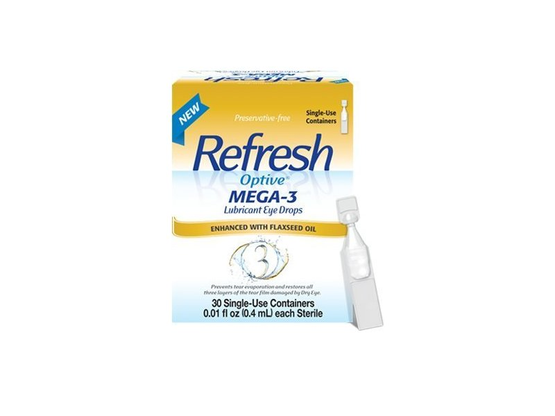 Refresh Optive Mega-3 Lubricant Eye Drops, 30 Single