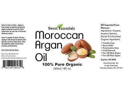 100% Pure Organic Moroccan Argan Oil - 4oz - Image 5