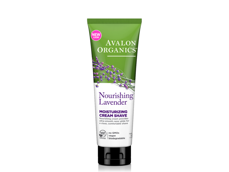 Avalon Organics Nourishing Lavender Moisture Zing Cream Shave, 8 oz
