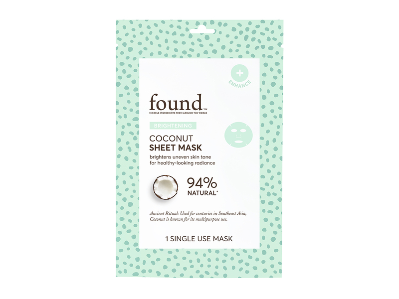 Found Brightening Coconut Sheet Mask, 1 Mask