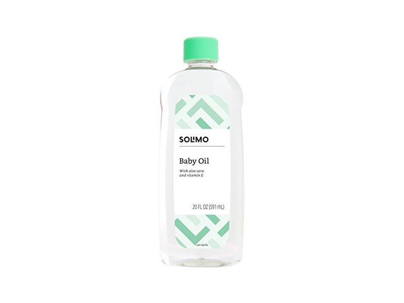 Solimo Baby Oil with Aloe Vera & Vitamin E, 20 Fluid Ounces