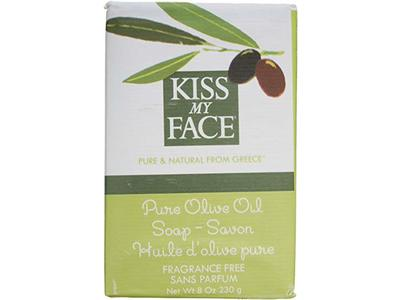 Kiss My Face Naked Pure Olive Oil Moisturizing Bar Soap, 8 oz - Image 1