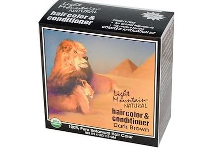 Light Mountain Natural Hair Color & Conditioner, Dark Brown, 4 oz