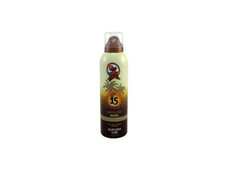 Australian Gold SPF 15 Continuous Spray Bronzer, 6 Ounce