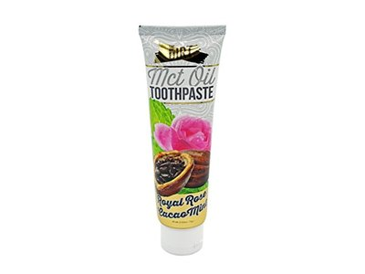 The Dirt Natural Organic Fluoride Free Toothpaste with MCT Coconut Oil Royal Rose Cacao Mint, 72 g