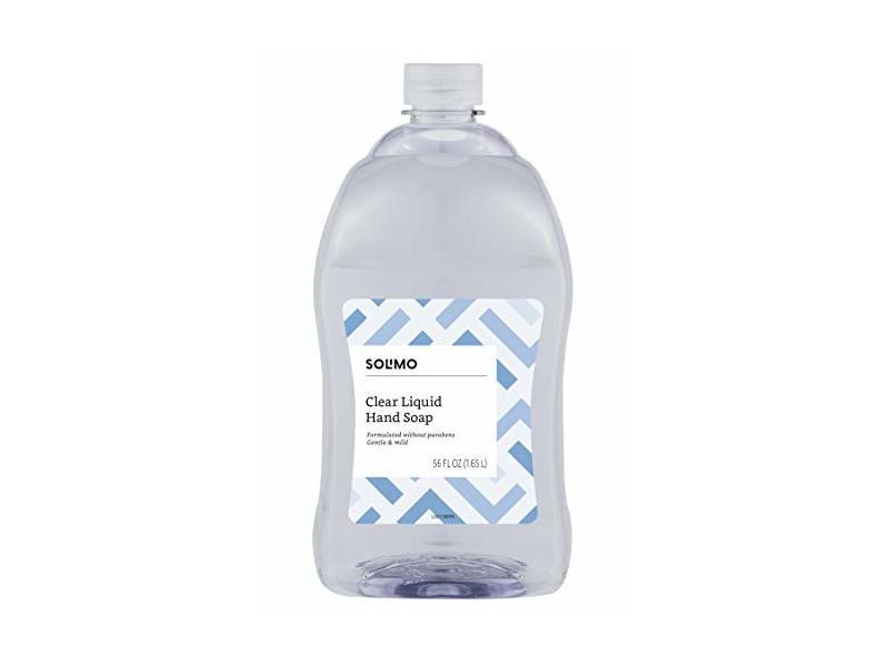 Solimo Clear Liquid Hand Soap, 56 fl oz