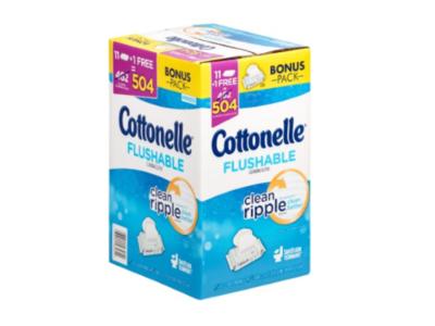 Cottonelle Flushable Cleansing Cloths, 504 count