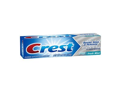 Crest Baking Soda and Peroxide Whitening with Tartar Protection Fresh Mint Toothpaste, 4.6 Ounce - Image 11