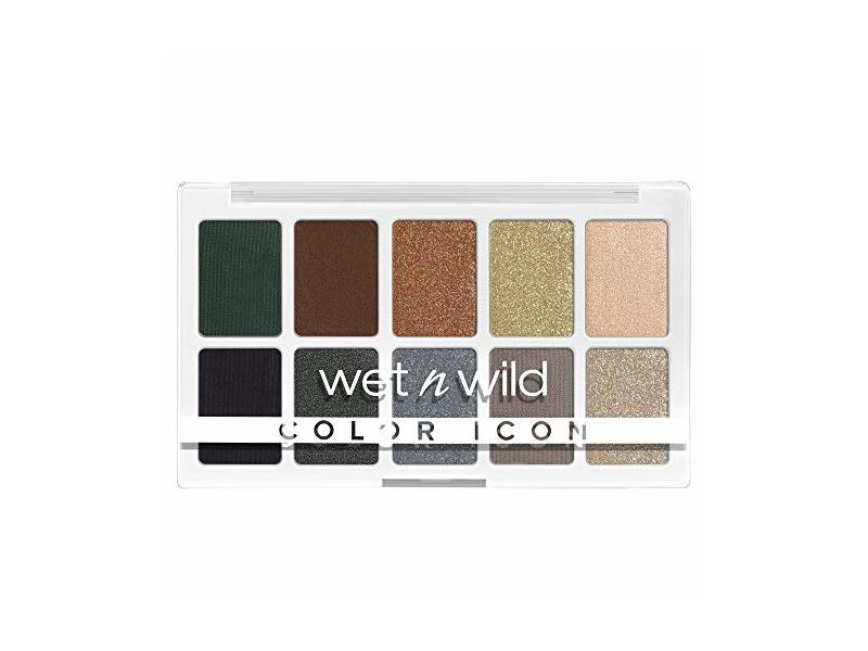 Wet n Wild Color Icon 10-Pan Shadow Palette, Lights Off, 0.42 oz/12 g