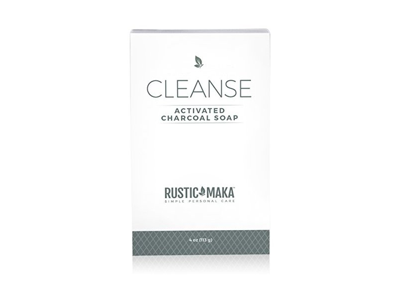 Rustic Maka Cleanse Activated Charcoal Soap, 4 oz