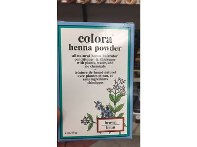 Colora Henna Powder Hair, Brown, 2 oz (6 Pack) - Image 3
