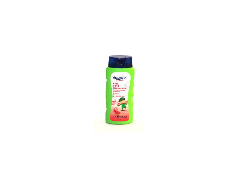 Equate Kids 3-in-1 Watermelon Shampoo, Conditioner, & Body Wash, 12 fl oz