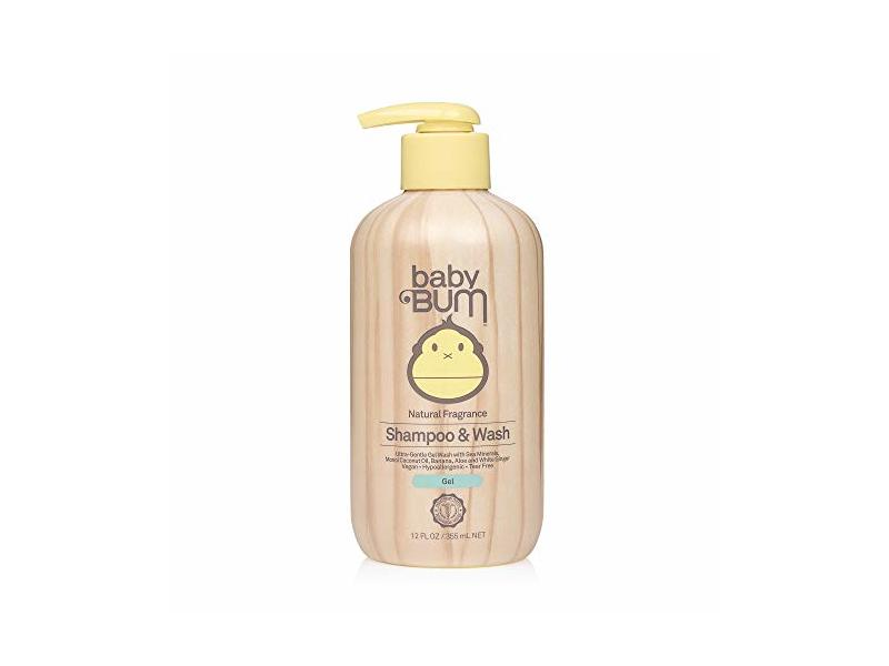 Baby Bum Natural Fragrance Shampoo & Wash Gel, 12 fl oz