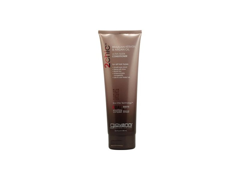Giovanni 2chic Ultra-Sleek Conditioner Brazilian Keratin & Argan Oil, 8.5 oz