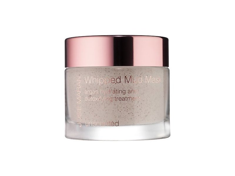 Josie Maran Whipped Mud Mask Argan Hydrating and Detoxifying Treatment (Full (1.7oz/52g), Unscented)