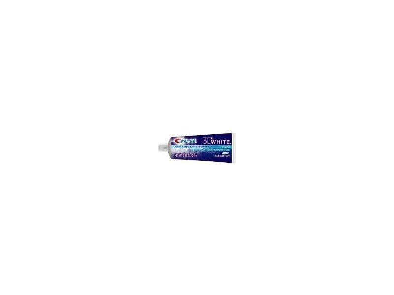 Crest 3D White Vivid Fluoride Anticavity Toothpaste, 0.85 oz