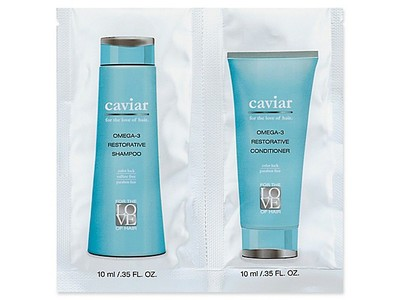 For the Love of Hari Caviar Omega- 3 Restorative Shampoo and Restorative Conditioner