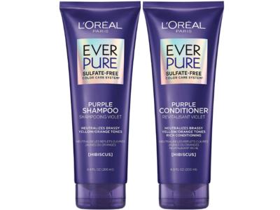 L'Oreal Paris Ever Pure Purple Shampoo & Conditioner Kit, Sulfate-Free