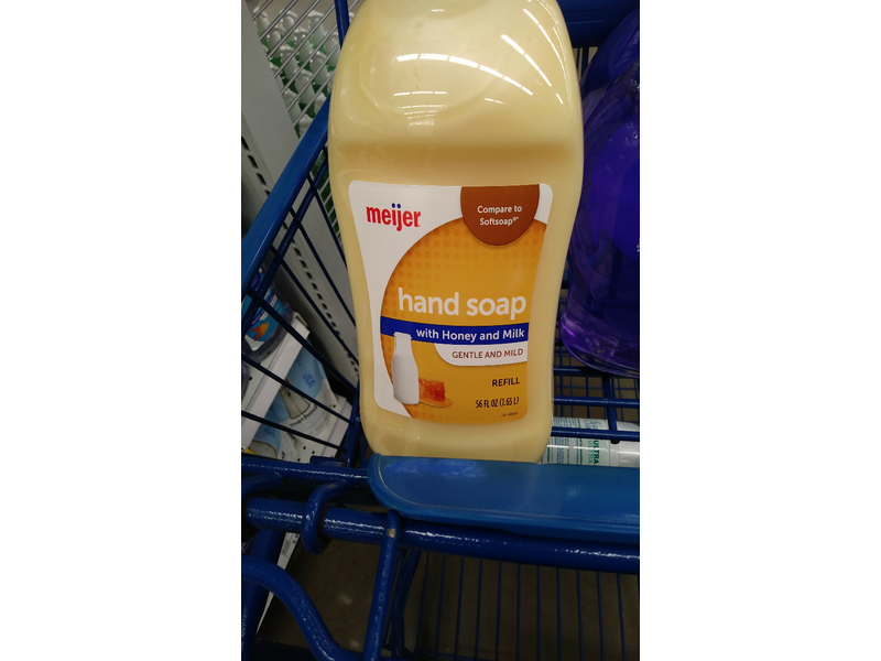 Meijer Hand Soap Refill, Honey and Milk, 56 fl oz