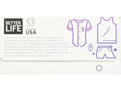 Better Life Dryer Sheets, Lavender Grapefruit, 80 Count, 2422 - Image 6