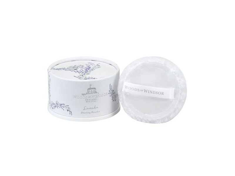 Woods of Windsor Body Dusting Powder with Puff for Women, Lavender, 3.5 Ounce