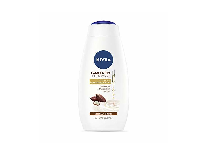 NIVEA Pampering Cocoa and Shea Butter Body Wash, 20 fl oz