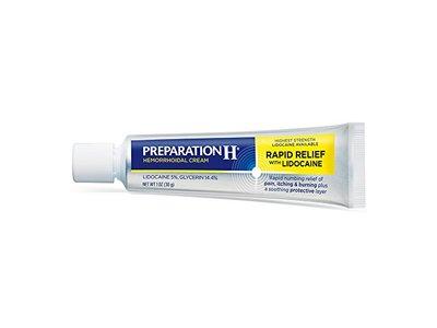 Preparation H Hemorrhoidal Cream Rapid Relief with Lidocaine, 1.0 oz - Image 3