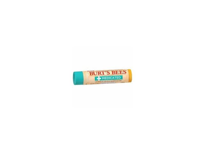 Burt's Bees Medicated Lip Balm, Menthol & Eucalyptus, 0.15 oz