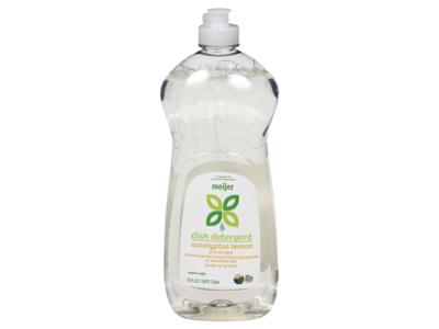 Meijer Dish Detergent, Eucalyptus Lemon, 25 fl oz