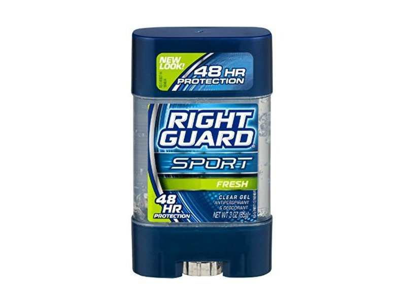 Right Guard Sport 3D Odor Defense, Antiperspirant Deodorant Clear Gel, Fresh, 3 oz (Pack of 5)