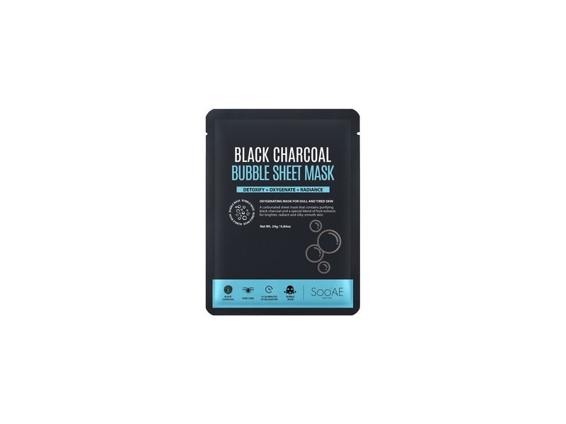 SooAE Black Charcoal Bubble Sheet Mask