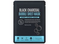 SooAE Black Charcoal Bubble Sheet Mask - Image 2