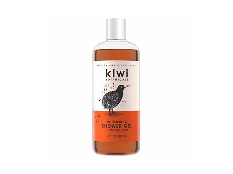 Kiwi Botanicals Nourishing Shower Gel for Women, Manuka Honey, 16.5 fl oz