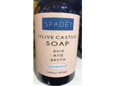 Spadet O'Live Castile Soap, Unscented, 16 fl oz - Image 3